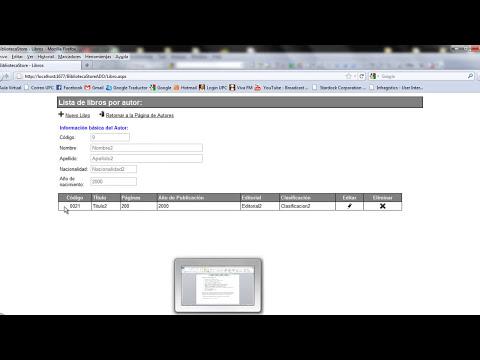 Aplicación web usando ASP .NET - Sistema Biblioteca