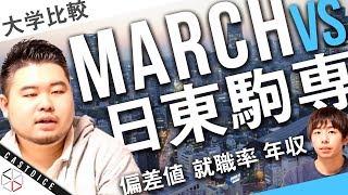 【偏差値・就職率・年収】MARCHと日東駒専を徹底比較!