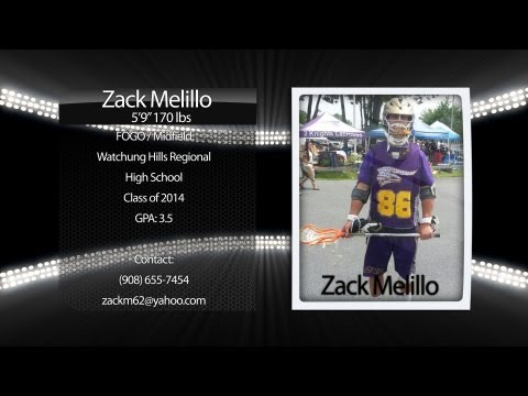 Zack Melillo 2013 Lacrosse Highlights (Watchung Hills Regional High School)