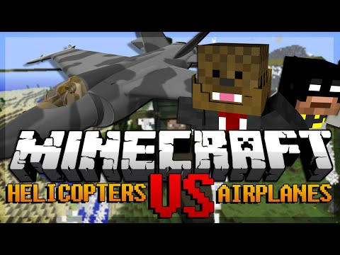 Minecraft Airplane Mod Vs Helicopter Mod Mod Battles