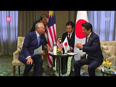 Abe meets Najib ahead of opening of Asean summit