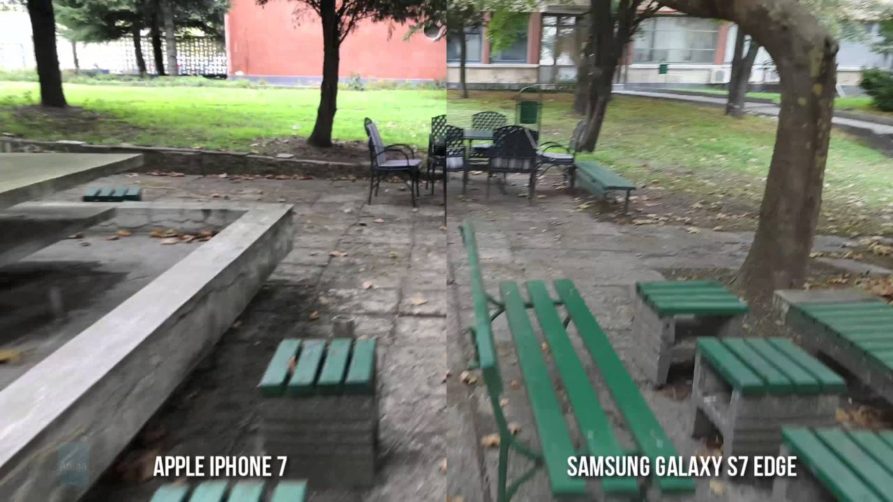 Apple iPhone 7 vs Samsung Galaxy S7 Edge 4K video stabilization comparison