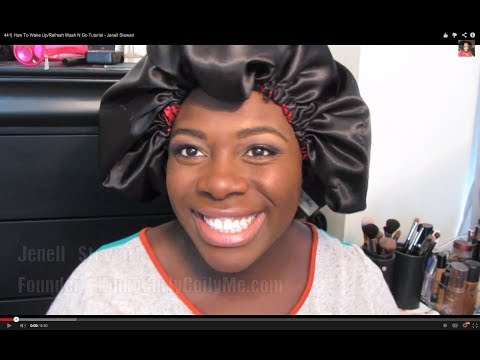 441  How To Wake Up/Refresh Wash N Go Tutorial - Jenell Stewart