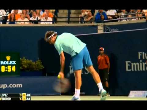 Federer Vs Feliciano Lopez Toronto 2014 | SF