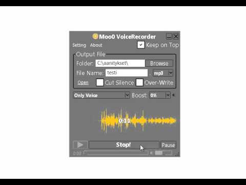 Moo0 VoiceRecorder -pikaopas