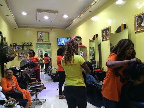 Afro hair salon dubai youtube for A total new you salon