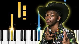 Lil Nas X - Old Town Road (Remix) ft. Billy Ray Cyrus - EASY Piano Tutorial