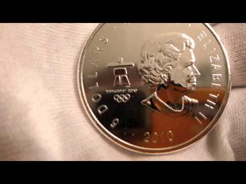 2010 Royal Canadian Mint 2010 Vancouver Whistler Olympics 1 Ounce Silver Coin Review