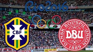 Brasil x Dinamarca - 10/08/2016 | Jogos Olímpicos Rio 2016 - Futebol Masculino [PES 2016]
