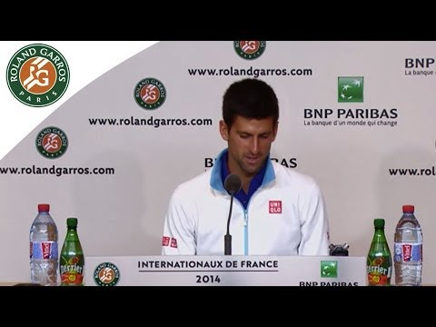 Press conference Novak Djokovic 2014 French Open R2