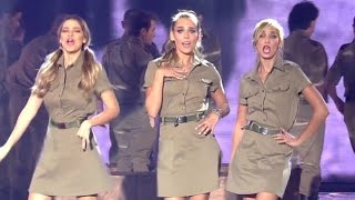 IDF songs at children's Festival (Israeli soldiers Israel Defense Forces singing Israeli songs army)