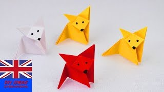 How to make an ORIGAMI FOX | Super easy & super cute | Paper ideas