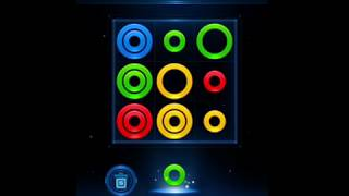 Glow Rings Puzzle (iPad German Bootleg) - Game Over