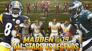 MADDEN 19 ALL LEGENDS TEAM VS NFL ALL STARS TEAM! TERRELL OWENS AND MORE!