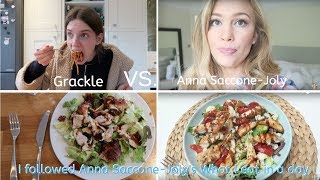 I followed Anna Saccone-Joly's What I eat in a day