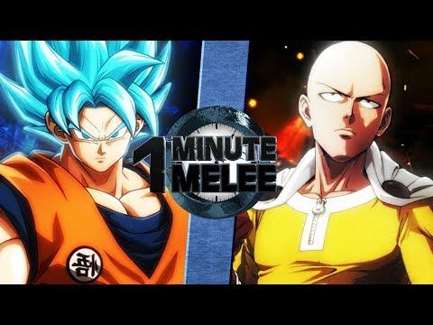 Goku vs Saitama (Dragonball Super vs One Punch Man) - One Minute Melee S5 Finale