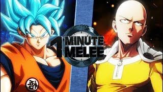 Goku vs Saitama (Dragonball Super vs One Punch Man) - One Minute Melee S5 Finale