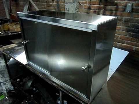 Alacena en acero inoxidable youtube - Laminas de acero inoxidable para cocinas ...