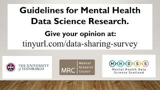 Guidelines for Mental Health Data Science Research