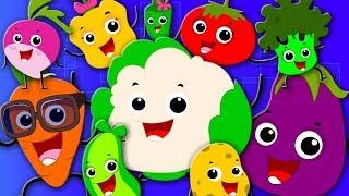 Ten Little Vegetables   Learn Vegetables   Nursery Rhymes And Kids Songs For Children kids tv