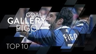 LUIS FIGO | INTER TOP 10 GOALS | Goal Gallery 🇵🇹🖤💙
