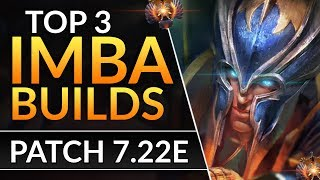 Top 3 BEST HEROES and ITEM BUILDS you MUST TRY in Patch 7.22e - Pro Meta Tips | Dota 2 Guide