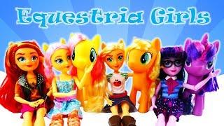 New MLP Equestria Girls Fashion Dolls 2017 Sunset Shimmer Applejack Fluttershy Twilight Sparkle