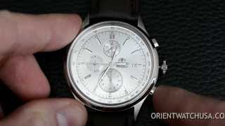 Orient Watch How To Adjust Your Quartz Chronograph