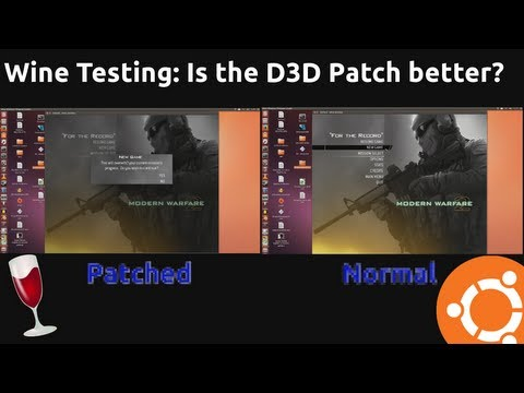 Wine Testing: Patched VS Normal 1.7.1 On Ubuntu Linux