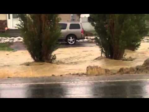 Heavy rains flood Maeser again