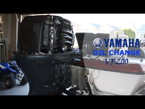 How to Change the Oil Yamaha VMAX SHO [Four Stroke Outboard]