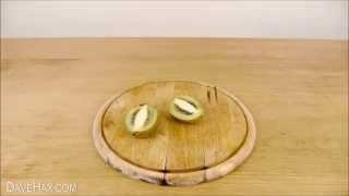 پوست کندن کیوی و مانگو در سه سوت