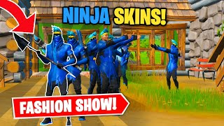 Fortnite | Fashion Show! Skin Competition! *NINJA SKINS ONLY* & EMOTES WINS!