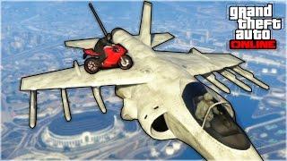 GTA 5 : INCREDIBLE BIKE STUNT LANDING! (GTA 5 Online Stunts)