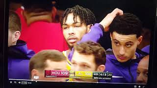 Lakers vs Rockets: Rando and Chris Paul Fight!! Both get ejected including Ingram