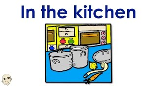 In The Kitchen | Actions | Easy English Conversation Practice | ESL/EFL