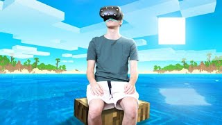 Spending 24 Hours in VR Minecraft