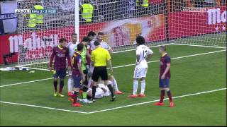 Messi Record Breaking Goal Vs. Real Madrid Plus Fight! 23.03.2014 [English Commentary] HD