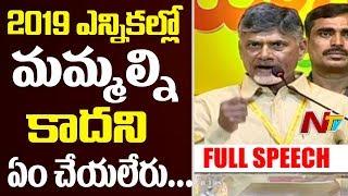CM Chandrababu Full Speech at Telangana TDP Mahanadu | Nampally Exhibition Ground | Hyderabad | NTV