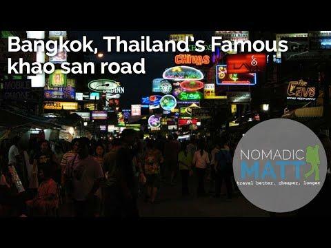 Bangkok, Thailand's Famous Khao San Road