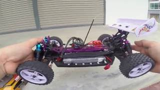 Top Speed Test On HSP 1/10 Rc Buggy Electric