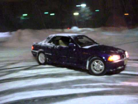 1996 BMW 328ic Snow Drifting