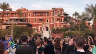شاهد ... أول فيديو من حفل زفاف عمرو يوسف وكندة علوش