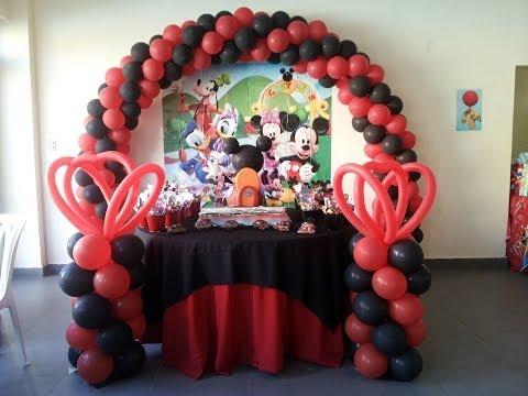 Decoracion cumpleaños Mickey Mouse - YouTube