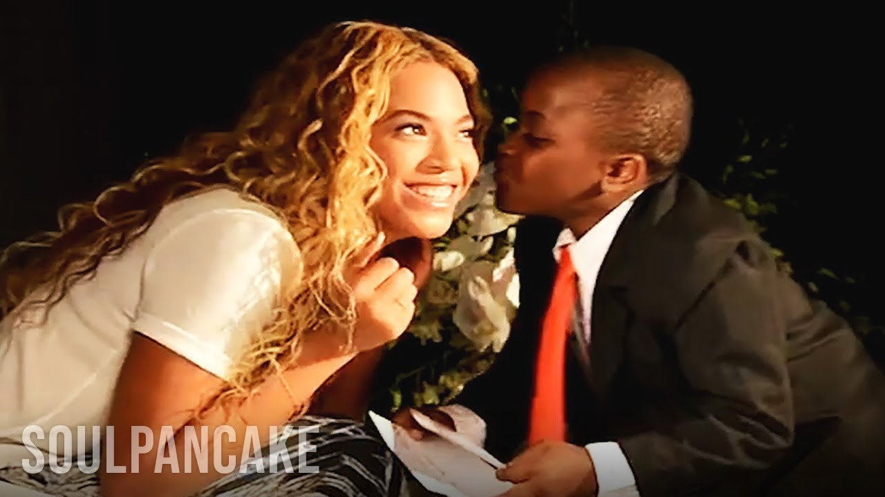 Beyonc 233 helps kid president with world humanitarian day 2013