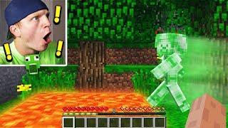 TROLLING GREEN STEVE IN MINECRAFT!