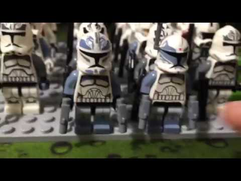 Китайские Клоны из Lego Star Wars (Wolf pack+ Bib Fortuna)