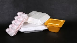 ps foaming fast food container machine, ps foam take-out container equipment
