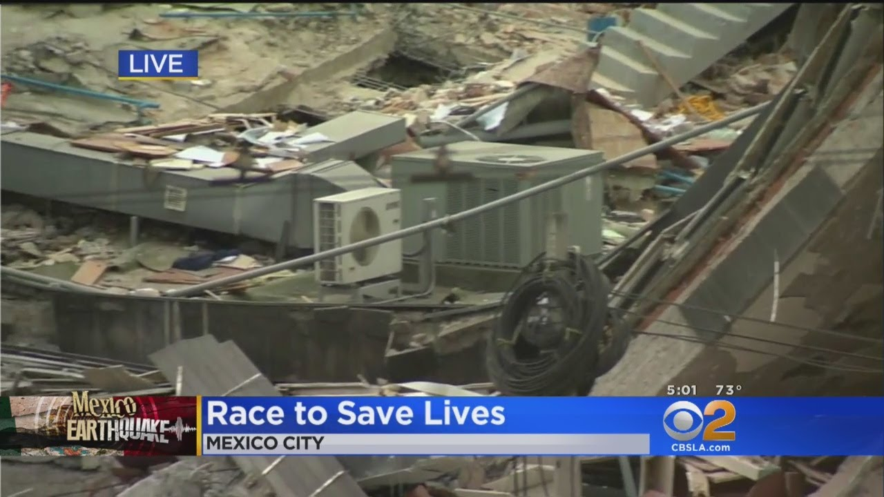 Rescuers Race Time To Save Victims Of Mexico Earthquake