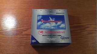 Gemini Jets 1:400 Northwest Airlines Boeing 757-300 (Old Colors) Unboxing/Review
